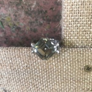 Vtg Sarah Coventry Smokey Quartz Silver Ring